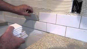 how to install subway tile backsplash kitchen how to install a simple subway tile kitchen backsplash youtube