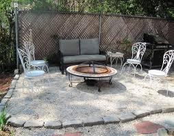 gravel patio designs backyard design ideas within diy pea glf home