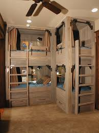 Rustic Bunk Rooms Kids Rustic With Light Wood Bunk Beds Bunk Room - Rustic wood bunk beds
