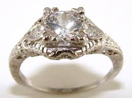 filigree engagement ring diamond antique filigree engagement ring the jewelers guild