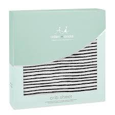 lovestruck striped classic crib sheet aden anais