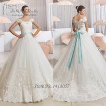 popular blue sash wedding dress buy cheap blue sash wedding dress