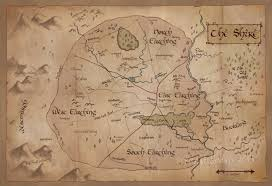 Nerdy Home Decor by Map Of The Shire Vintage Style Map Of Middle Earth Lord Of