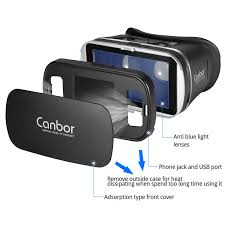 3 D Video Canbor 3d Vr Glasses Vr Headset 3d Virtual Reality Vr Box For 3d