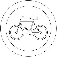 Coloriage  Panneau B9 Interdit aux vélos  Coloriages à imprimer