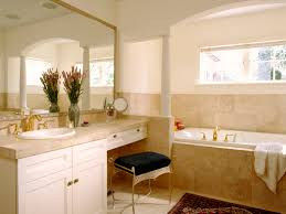 Beige Bathroom Vanity by Vintage Bathroom Themed With Pastel Wall Paint And Combine With