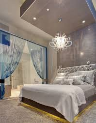 Light Blue And Silver Bedroom Extravagant And Modern Interior Apartment Design By Mark Tracy