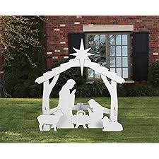 nativity outdoor outdoor white nativity set garden outdoor