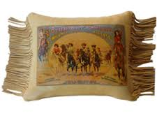 Deer Tanned Cowhide Medium Pillows W Fringe Cowgirl Classics Native American Made