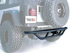 Rugged Ridge Tire Carrier Rugged Ridge Jeep Wrangler Black Powder Coat Rrc Rear Bumper With