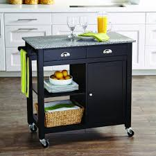 granite top kitchen island cart kitchen cabinets evergreen basic style wood top kitchen island