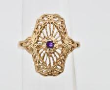 art deco rose gold ring ebay