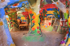 salvation mountain colorful artificial mountain made from adobe