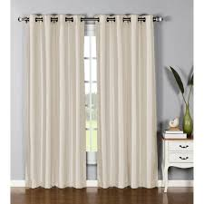 95 Inch Curtain Panels Window Elements Faux Silk 95 Inch Grommet Curtain Panel 54
