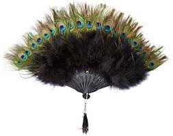 peacock feather fan zucker feather marabou fan with peacock plastic staves