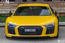 Audi R8 Yellow - audi r8 v10 plus 2015 15 november 2016 autogespot