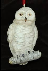 snowy owl personalized ornaments by