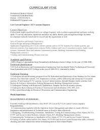 Sample Resume Of Project Engineer by Elv Engineer Resume