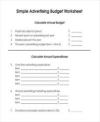 9 advertising budget templates free sample example format