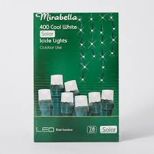cool white icicle lights mirabella christmas 400 led solar icicle lights cool white