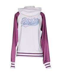 pinko sunday morning sweatshirt purple cotton elastane jumpers and