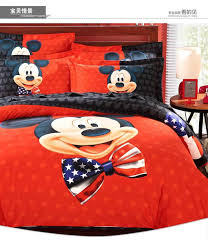 American Flag Comforter Set Usa Flag Mickey Mouse Star Stripe Bedding Set King Queen Size