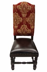 Old World Dining Room by Deep Red Gold Damask Dining Chair Old World French Dining Room