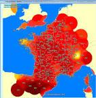 carte météo des impacts de foudre : METEOCIEL