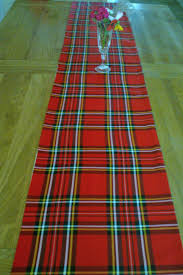 Christmas Plaid Table Runner by Christmas Molly Mixtures