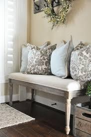 tetbury white storage bench with cushion quality hallway bench
