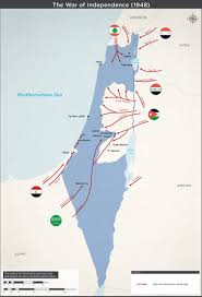 Israel Map 1948 The War Of Independence 1948