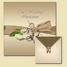 create wedding invitations online wedding invitation designer online square beige flower and ribbon