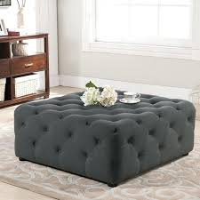 gray leather ottoman coffee table awesome grey ottoman coffee table black tufted ottoman coffee table