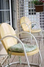 Metal Patio Furniture by Best 25 Yellow Outdoor Furniture Ideas On Pinterest Small