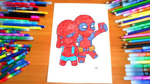 spiderman deadpool selfie new coloring pages for kids colors
