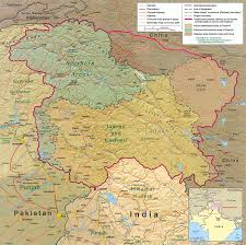 Where Is India On The Map by Kashmir Conflict Wikipedia