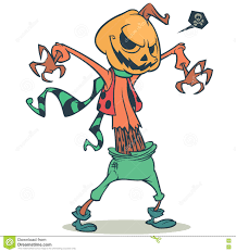halloween party clipart cartoon pumpkin head scarecrow vector template for halloween
