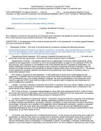 50 free independent contractor agreement forms u0026 templates