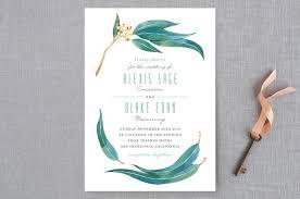 minted wedding invitations eucalyptus leaves wedding invitations by four studio minted