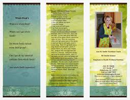 nutrition brochure template what is a whole food easy to understand brochure to help you