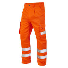 Comfortable Work Pants Blue Cotton Work Pants With Reflective Tape Blue Cotton Work