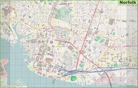 Detailed Map Of Virginia by Norfolk Maps Virginia U S Maps Of Norfolk
