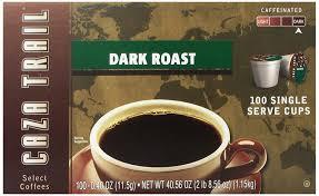 caza trail coffee dark roast 100 single serve cups amazon com