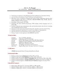 Resume For Software Testing Experience Sample Resume For Experienced Testing Professional Free Resume