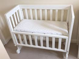 Side Crib For Bed Lewis Troll Bedside Crib Co Sleeper Cot White Mattress 2
