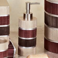 Modern Bathroom Accessories Uk by Modern Line Burgundy Striped Bath Accessories
