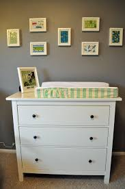 this is an ikea hemnes dresser which we are using as the changing