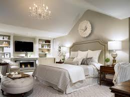 grey white master bedrooms decoration with electric fireplace