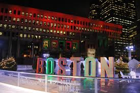 boston winter in city plaza is actually really cool