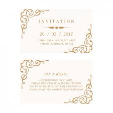 wedding invitation cards wedding invitation card vector free
